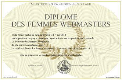 Diplôme des Femmes Webmasters