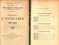 Le premier annuaire