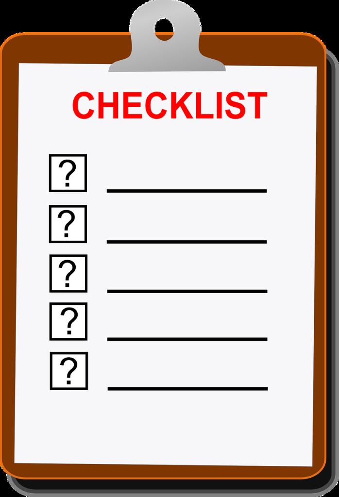 Checklist nettoyage blog